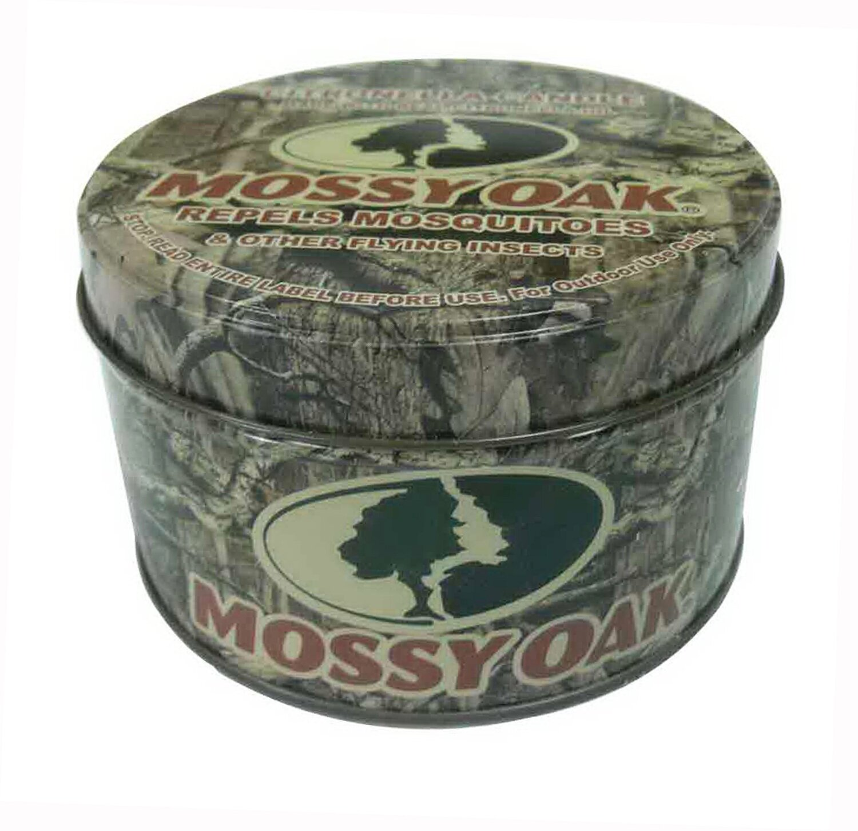 8 OZ Citronella Mossy Oak Print Metal Tin