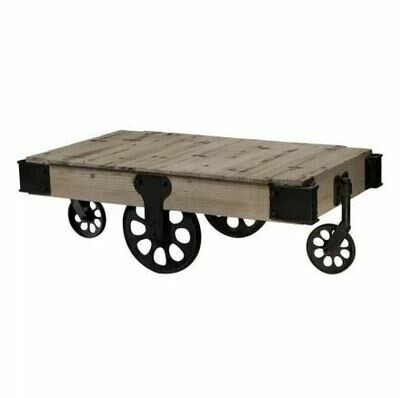 Industrial Washed Pine/Restoration Black Coffee Table (DISPLAY ONLY)
