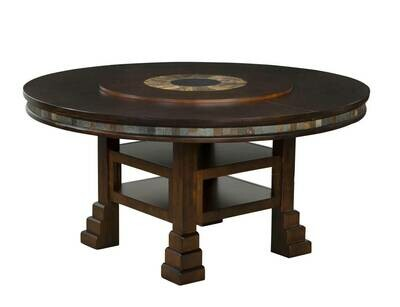 Santa Fe Distressed Cherry Table w/Lazy Susan