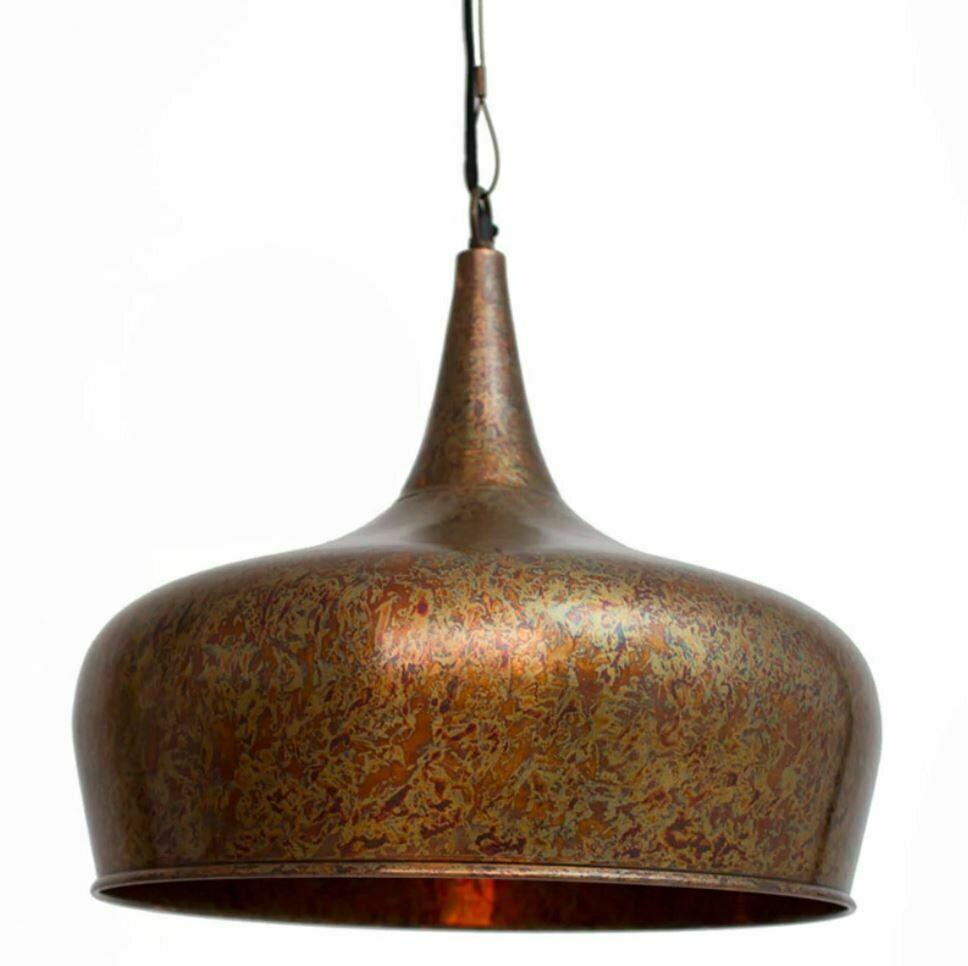 Tear Drop 1 Lt Pendant Lamp w/Rust Finish