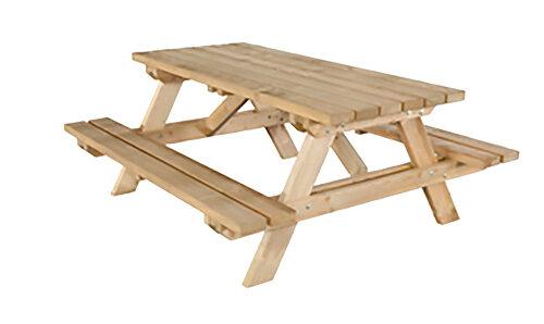 Ambrosia Natural Rectangle Picnic Table Set