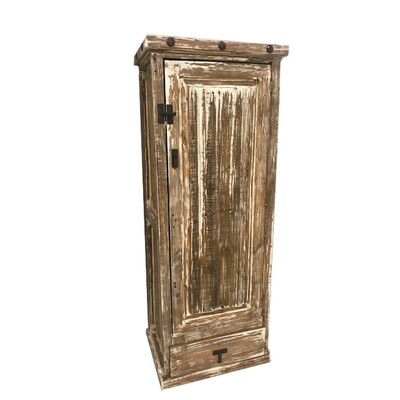 Antique White Door Pine Cabinet