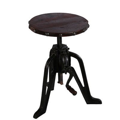 Iron Wind Up Stool