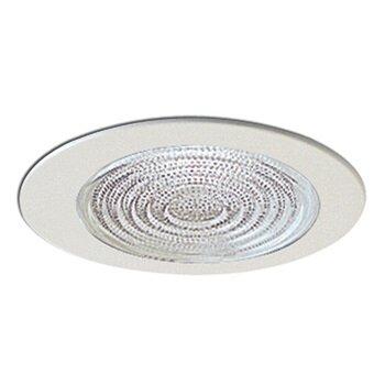 R20/PAR20 White Fresnel Lens w/Metal Trim