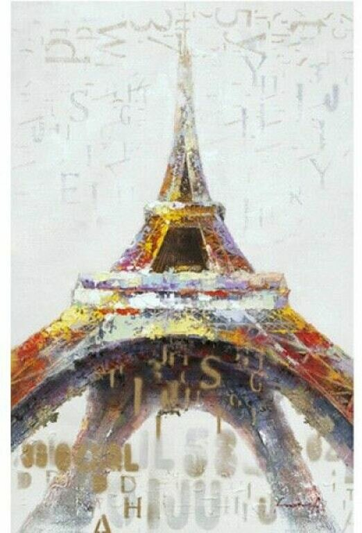 Eiffel Tower In Color Art