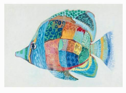 Colorful Fun Fish Art (DISPLAY ONLY)