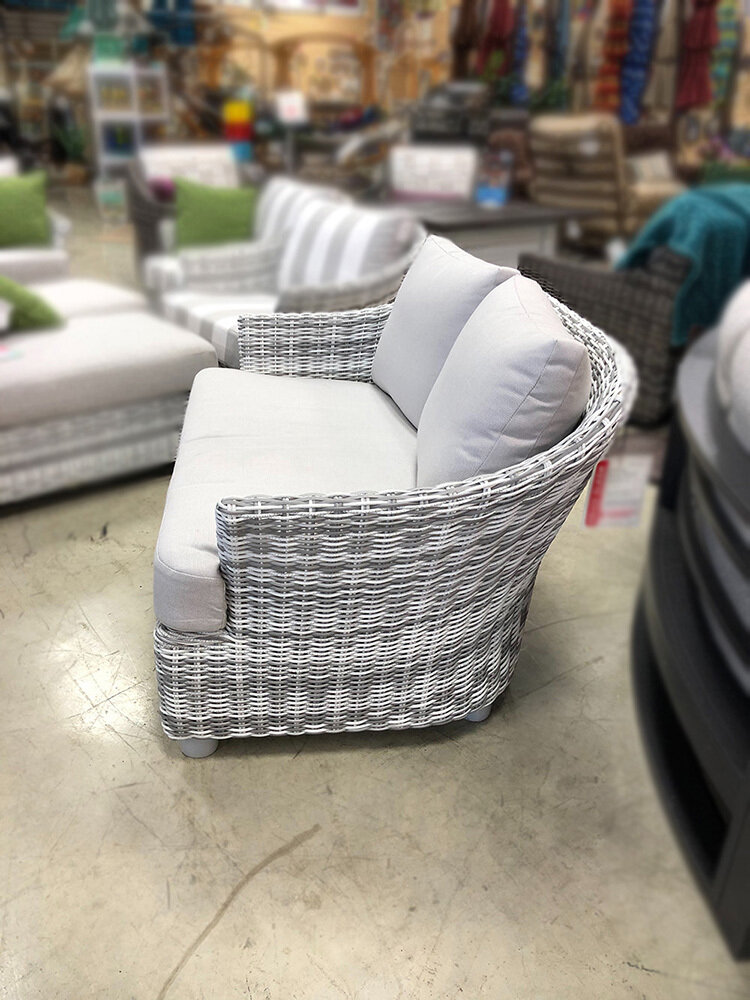 Sonoma Chair And 1/2 Rustic White Wicker