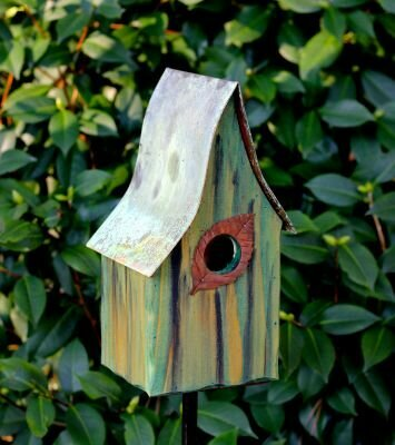Green Shady Shed Birdhouse 1 1/2