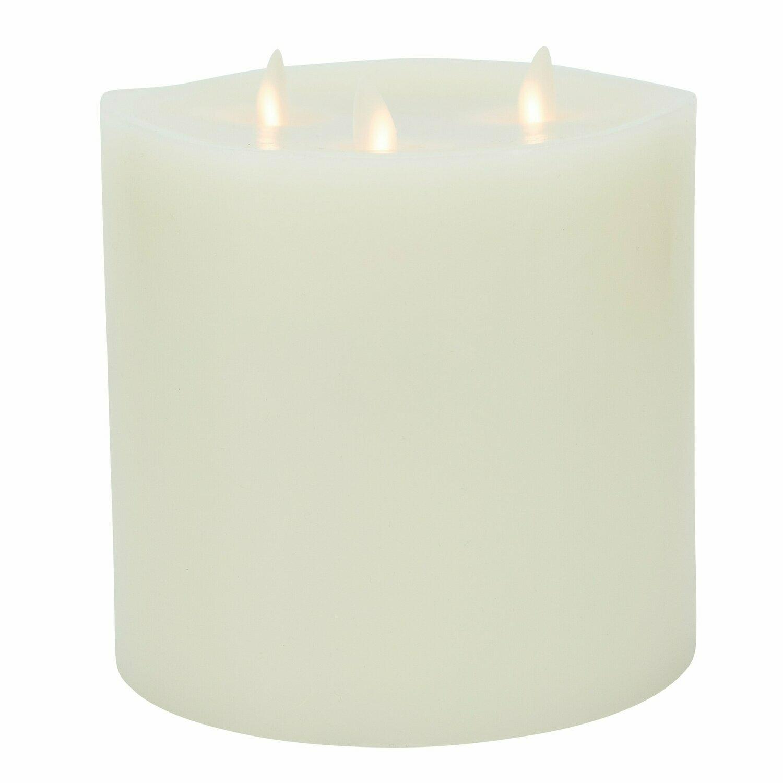 Lightli Tri Flame Ivory Wax Candle