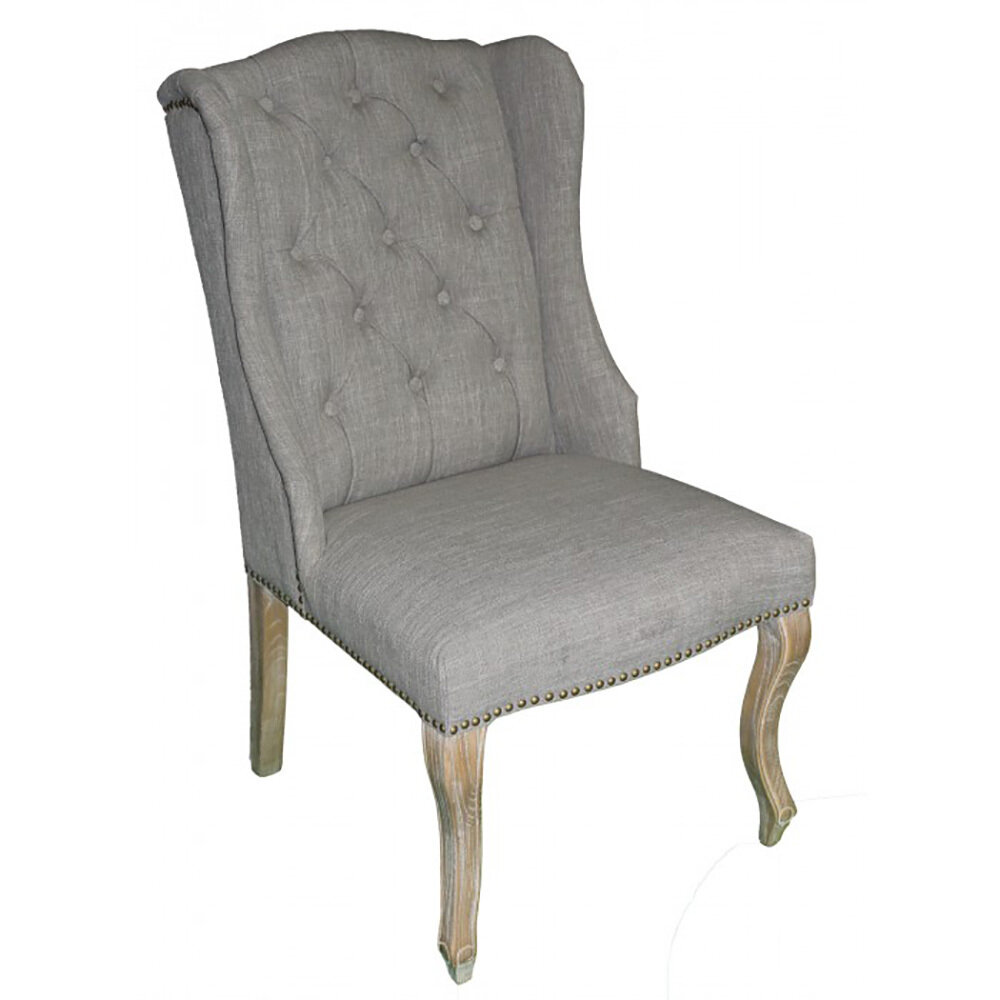 Weathered Oak/Smoke Gray Wing Captions Chair