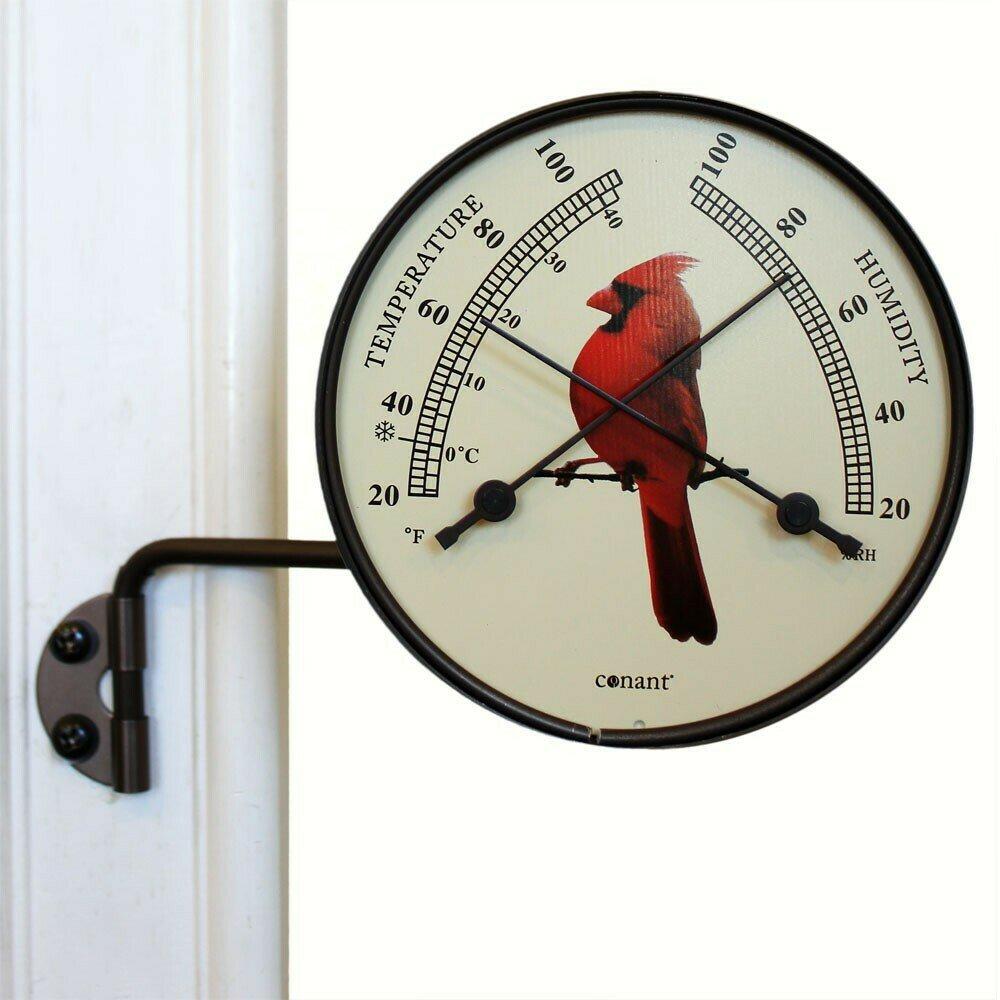 Bronze Patina Comfortmeter w/Cardinal