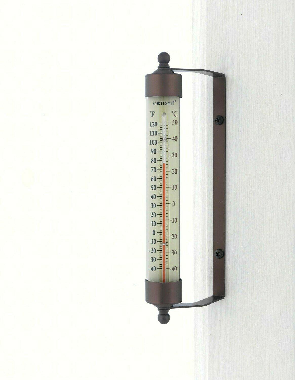 Bronze Patina Indoor/Outdoor Thermometer