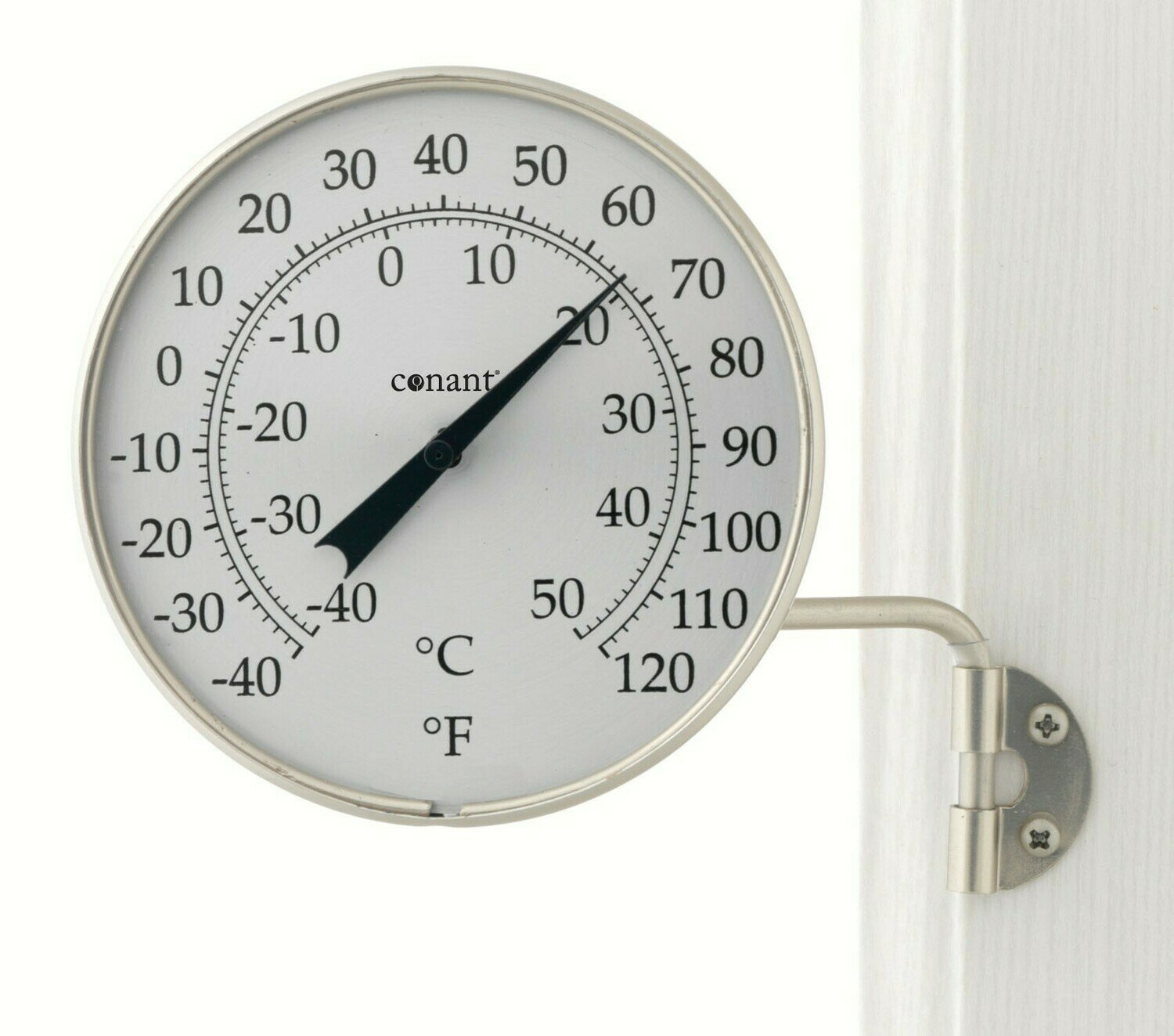 Satin Nickel Dial Thermometer