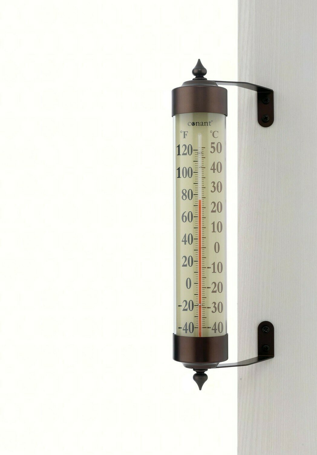 Grande View Bronze Patina Thermometer