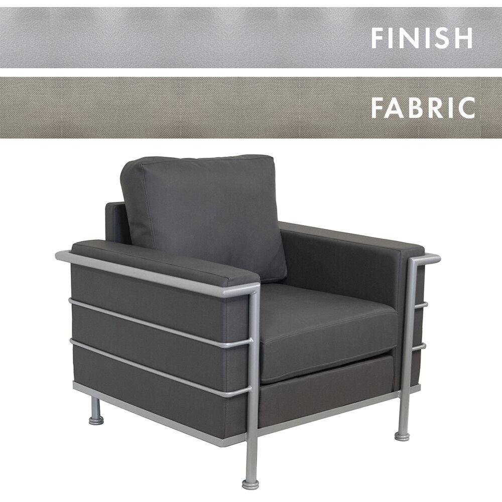 Silver Peel Frame/Shadow Brisa Distressed Lounge Chair