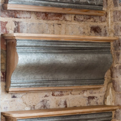 Embossed Tin Old Library Molding Shelf
