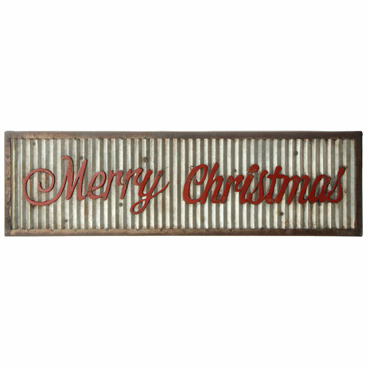 Galvanized Merry Christmas Sign
