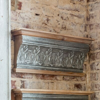 Embossed Tin Grand Hotel Molding Shelf