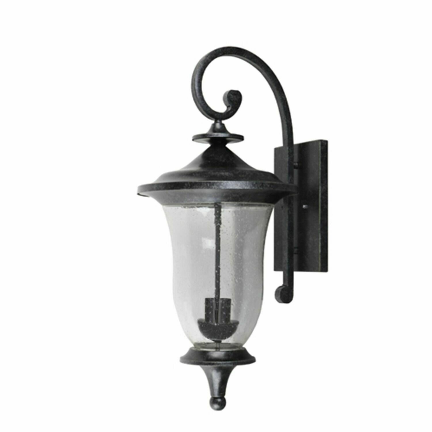 Brielle Brown Stain Large Exterior 2 Lt Wall Sconce