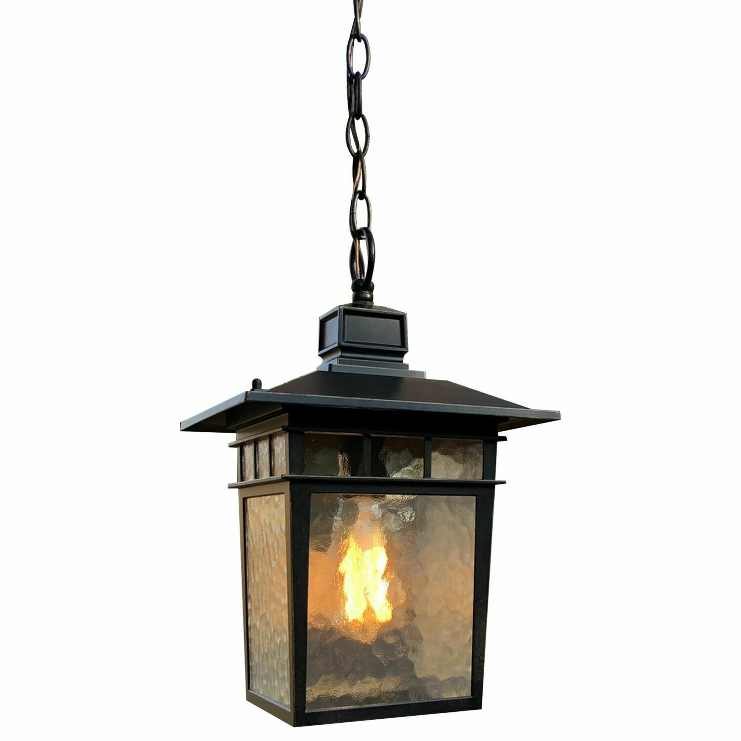 Cullen Oil Rubbed Bronze Exterior 1 Lt Hanging w/Clear Glass (DISPLAY ONLY)
