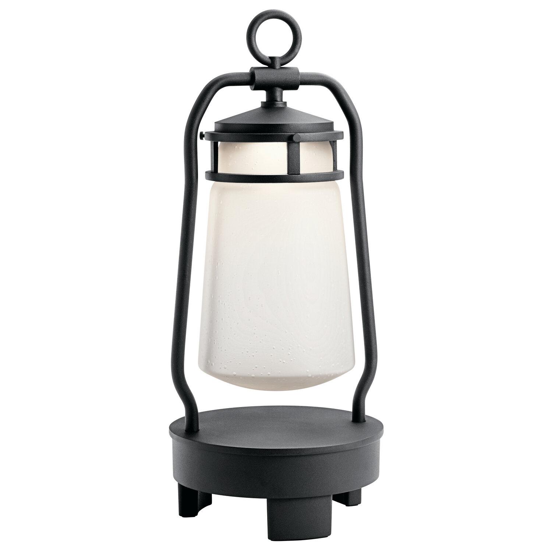 Lyndon Textured Black LED Exterior Lantern