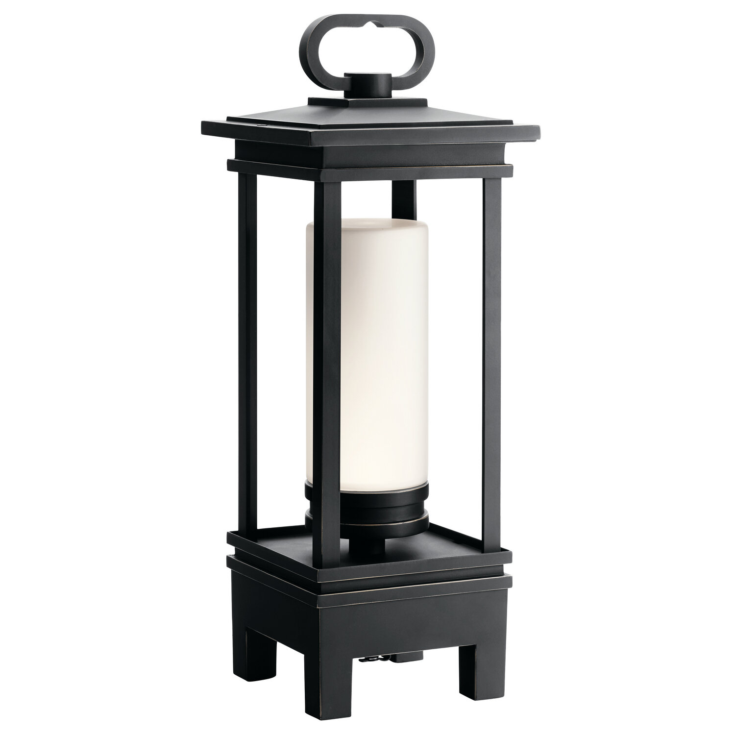 South Hope Rubbed Bronze LED Exterior Lantern w/Bluetooth