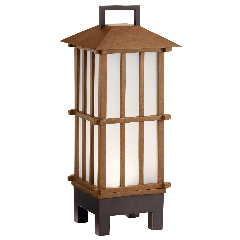 Davis Bamboo Wood LED Exterior Lantern w/Bluetooth