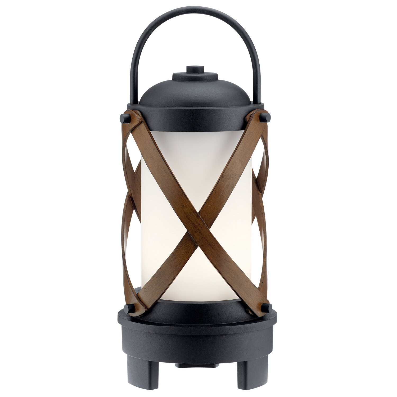 Berryhill Textured Black LED Exterior Lantern w/Bluetooth