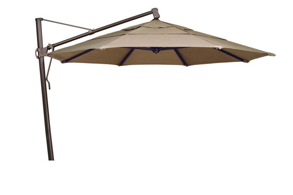 13' Cantilever Bronze Octagon Double Wind Umbrella (BASE SOLD SEPARATE)