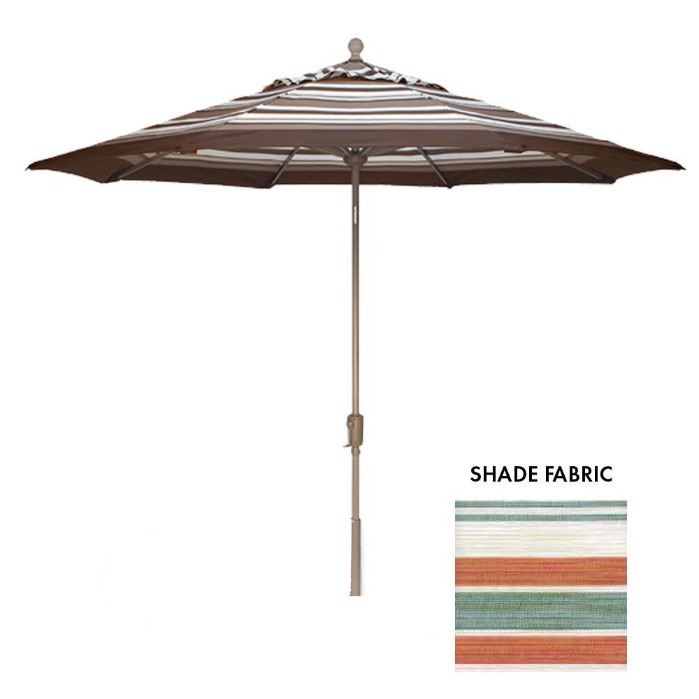 9' Octagon Courtyard Cabo Stripe Push Button Umbrella (BASE SOLD SEPARATELY)
