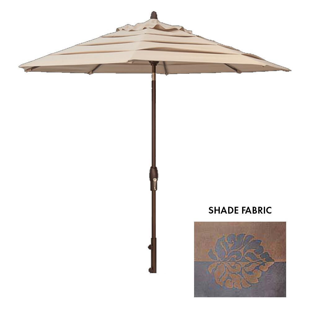 9' Auto-Tilt Bronze Octagon Double Wind Umbrella (BASE SOLD SEPARATELY)