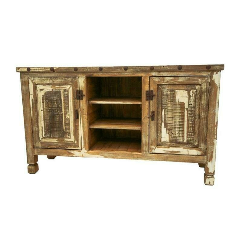 Colorwash Collection Antique White TV Stand
