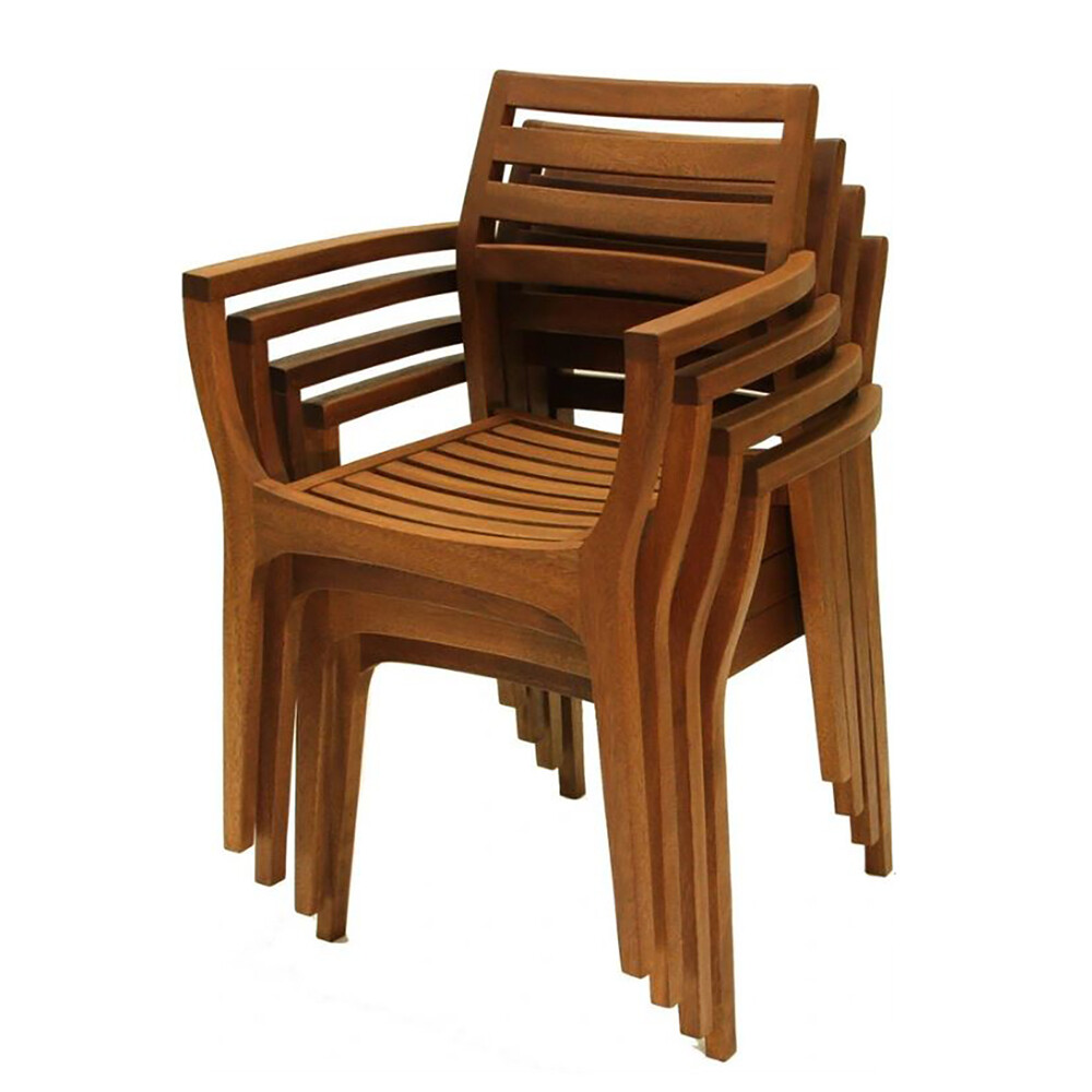 Danish Eucalyptus Stackng Chair (Pack of 4)
