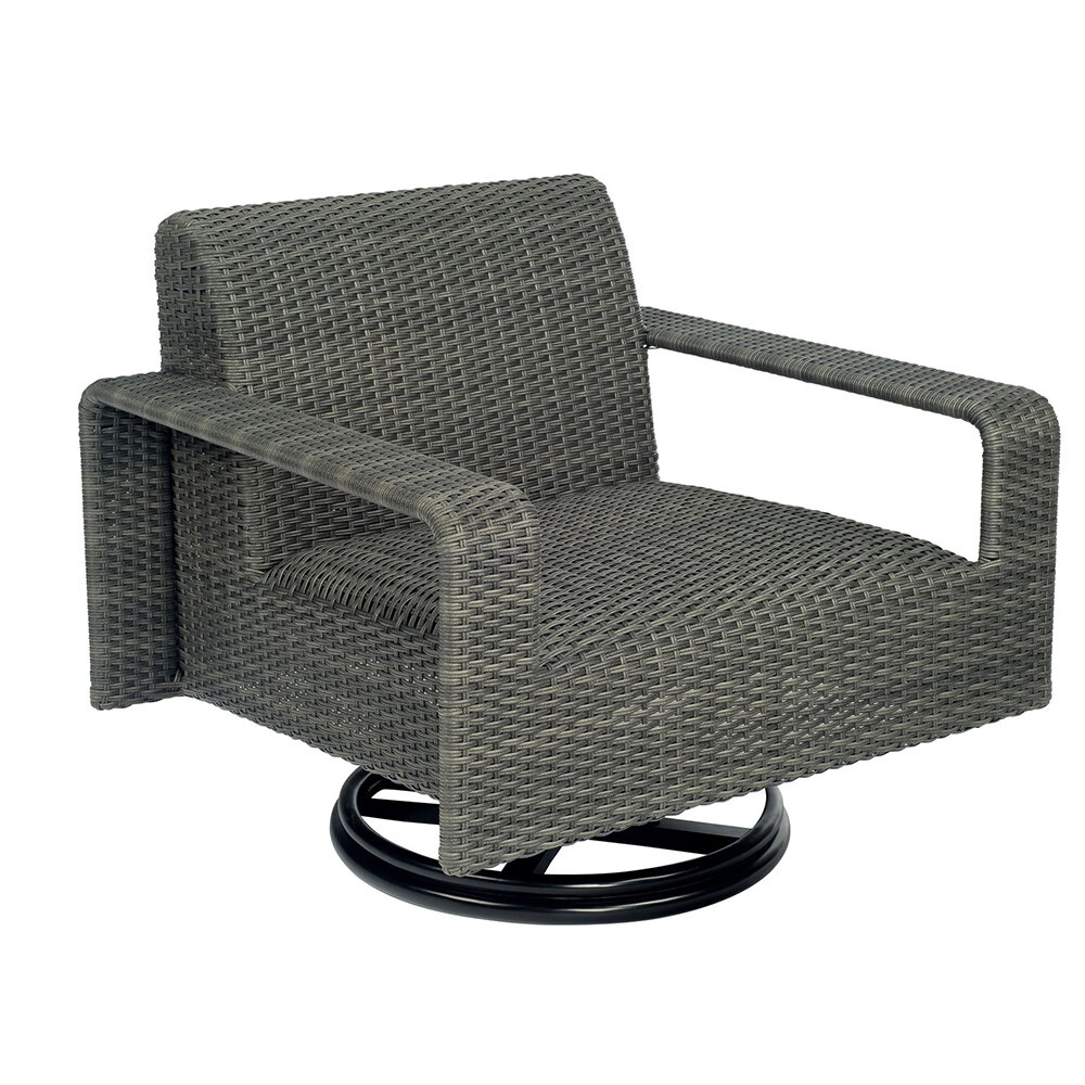 Darville Swivel Lounge Chair Stone Cast Grey
