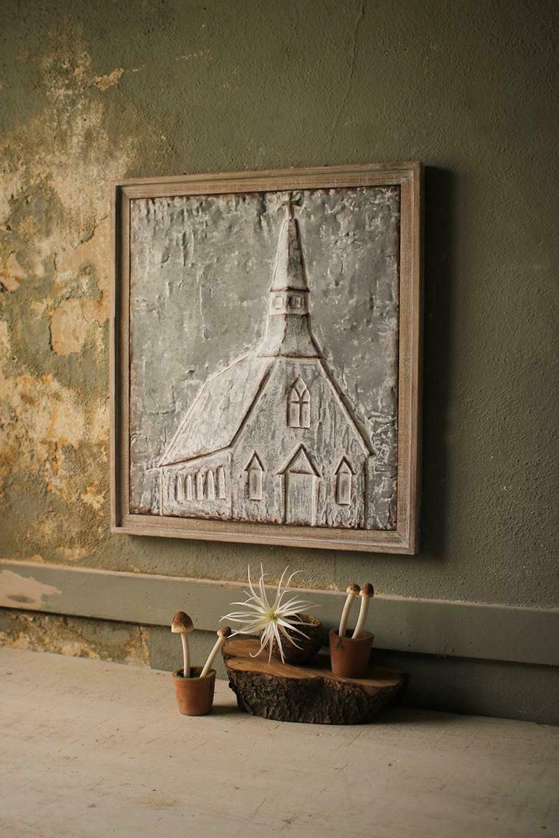 Pressed Metal Church Wall Decor #4