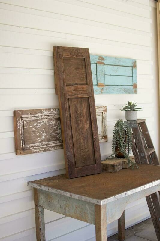 Antique Wooden Set Of 3 Wall Panels - Asstorted
