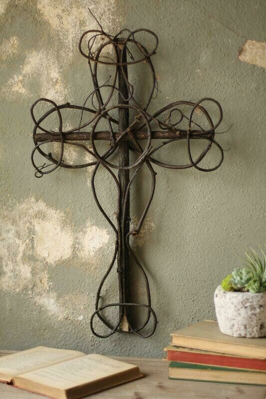 Black Vine Decorative Cross