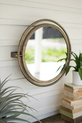 Large Wall Round Mirror w/Adjustable Bracket