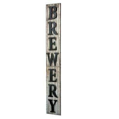 Metal Brewery Sign