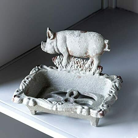 Cast Iron Pig Soap Dish (DISPLAY ONLY)