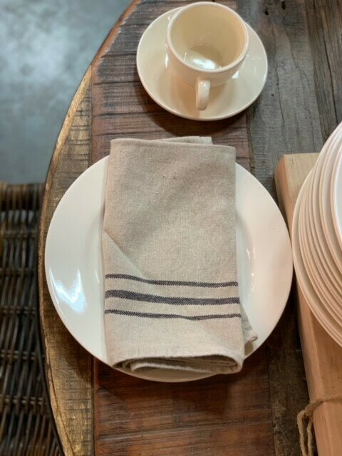 French Stripe Linen Napkin
