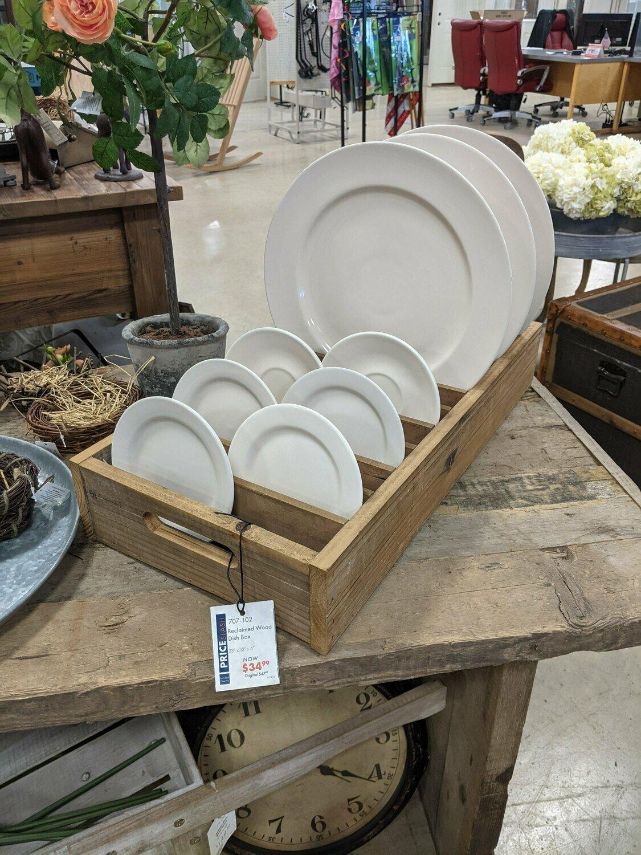 Reclaimed Wood Dish Box