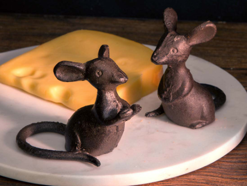 Cast Iron Mice Pair