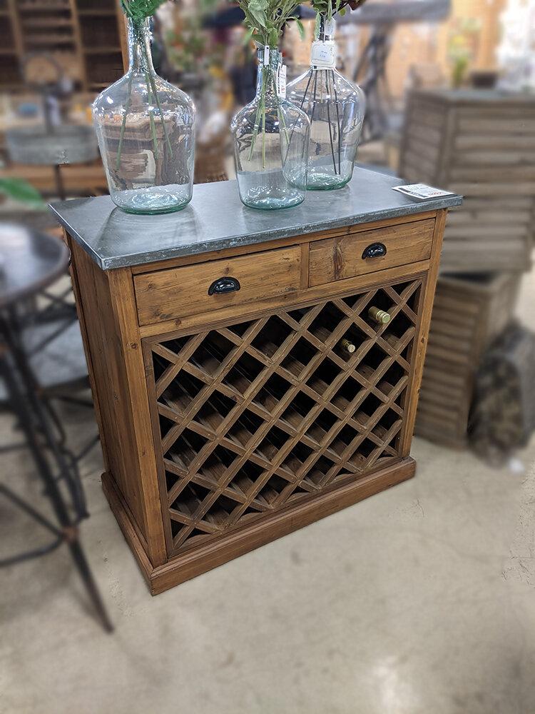 Ziinc Top Wine Cabinet