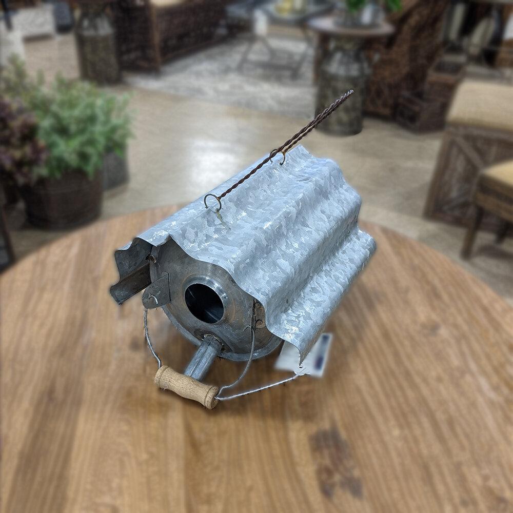 Galvanized Metal Repurposed Birdhous