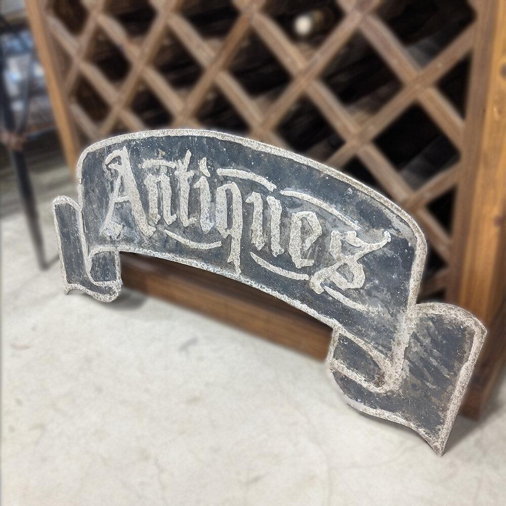 Metal Antique Sign Banner