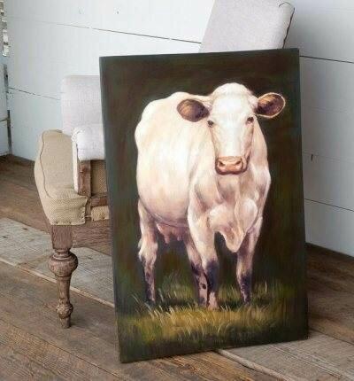 Milking Shorthorn Giclee