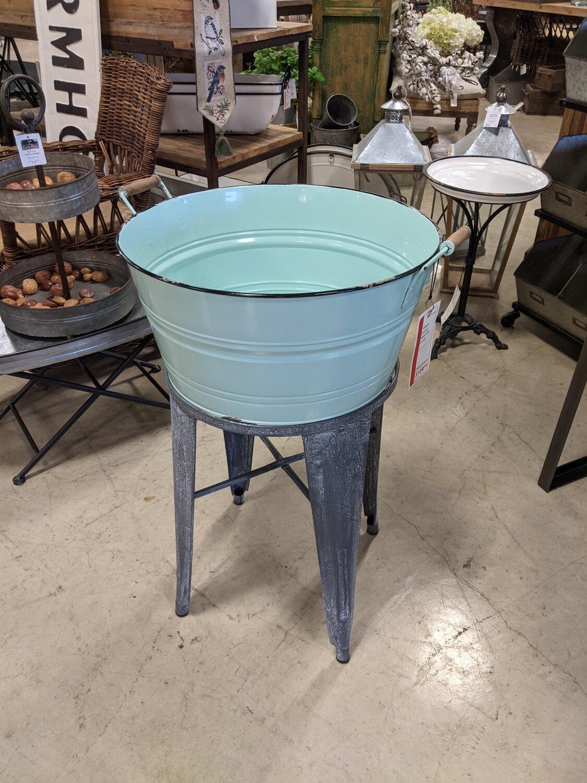 Vintage Enamel Wash Tub Cooler