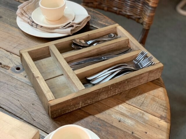 Reclaimed Wood Silverware Box