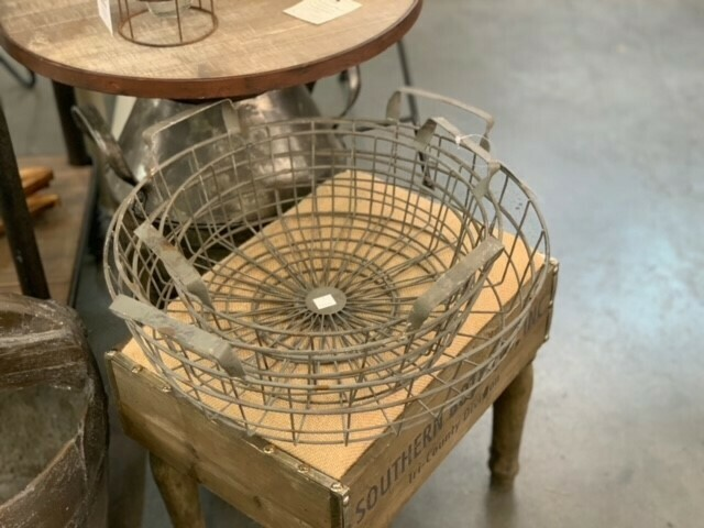 Set Of 3 Shallow Wire Basket